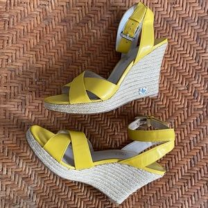 "Michael Kors 4"" Yellow Espadrilles"